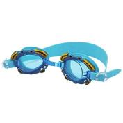 Lanlan Children Crab Shape Swimming Coating.Glasses Cartoon Swimming Spectacles Waterproof Anti-fog Anti-UV Goggles Lake blue
