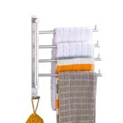 GOUGOU Space aluminium activities towel bar / rotating towel bar / four-bar bathroom towel rack
