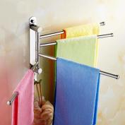 GOUGOU Toilet stainless steel activities towel bar / hook and rotating towel rack / bathroom pendant four bar