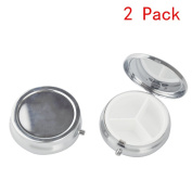 LazyMe Decorative Pill Box, Cute Size for Purse Metal Locking Small Daily Case