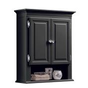 3-Shelf with 2-Doors Bathroom Wall Mount Cabinet in Grey