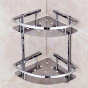 GOUGOU Stainless steel bathroom racks bathroom toilet shelves toilet triangular shelf storage wall