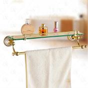GOUGOU Full Copper Single Layer Family Bathroom Dresser Shelf Towel Rack
