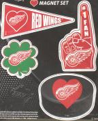 Detroit Red Wings 4 Piece Magnet Set