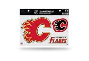 NHL Calgary Flames Team Magnet Set, 22cm x 28cm , Red
