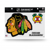 NHL Chicago Blackhawks Team Magnet Set, 22cm x 28cm , Multicolor