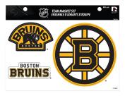 NHL Boston Bruins Team Magnet Set, 22cm x 28cm , Black