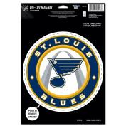 NHL St. Louis Blues Die Cut Logo Magnet, 16cm x 23cm