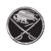 Buffalo Sabres Silver Chrome Coloured Raised Auto Emblem Decal NHL Hockey