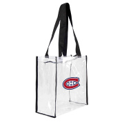 NHL Montreal Canadiens Square Stadium Tote, 11.5 x 14cm x 29cm , Clear