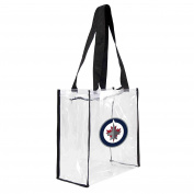 NHL Winnipeg Jets Square Stadium Tote, 11.5 x 14cm x 29cm , Clear