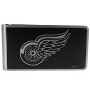 NHL Detroit Red Wings Black & Steel Money Clip