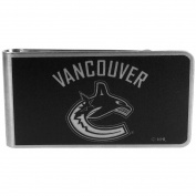 NHL Vancouver Canucks Black & Steel Money Clip
