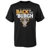 NHL Pittsburgh Penguins Boys -2017 Celebration Short sleeve Tee, Black, Xl