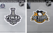 2017 Stanley Cup Final & Pittsburgh Penguins 50th Anniversary Jersey Patch Combo