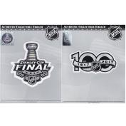 2017 Stanley Cup Final & NHL Hockey 100th Centennial Season Jersey Patch Combo