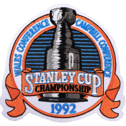 1992 NHL Stanley Cup Final Championship Wales Conference Jersey Patch