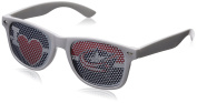 NHL Columbus Blue Jackets Adult I Heart Game Day Shades, White