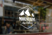 25cm The MOUNTAINS Are Calling Climbing Vinyl Stickers Funny Decals Bumper Car Auto Computer Laptop Wall Window Glass Skateboard Snowboard