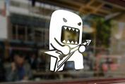 25cm Domo-kun Rocker Vinyl Stickers Funny Decals Bumper Car Auto Computer Laptop Wall Window Glass Skateboard Snowboard