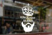 25cm Kings have beards Queen Crown Art Vinyl Stickers Funny Decals Bumper Car Auto Computer Laptop Wall Window Glass Skateboard Room