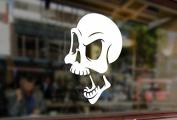 25cm Skull Heads grande Punk Pirate Art Vinyl Stickers Funny Decals Bumper Car Auto Computer Laptop Wall Window Glass Skateboard Room