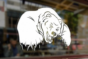 25cm Big Angry Bad Polar Bear Art Vinyl Stickers Funny Decals Bumper Car Auto Computer Laptop Wall Window Glass Skateboard Snowboard Room