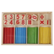 Baby Children Wooden Counting Math Game Mathematics Toys Kids Preschool Education Intelligence Stick