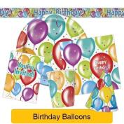 Balloon Birthday Party Tableware & Decorations (birthday/plat
