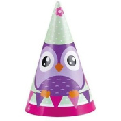 Owls Paper Party Hats - /8