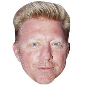 Boris Becker Celebrity Mask, Card Face And Fancy Dress Mask
