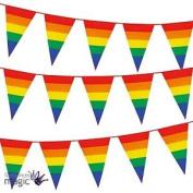 Rainbow Gay Pride Flag 8m Plastic Pub Street Triangle Bunting Garland Decoration