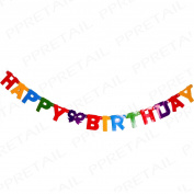 1.5m Happy Birthday Bunting Banner Long Hanging Jointed Letter Party Decoration