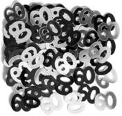 60th Birthday Anniversary Party Decorations Confetti Sprinkles Black Silver