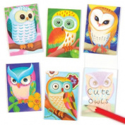 12 Owl Scented Mini Notebooks For Children. Fun Party Bag Filler Kids Loot Gifts