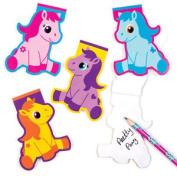 8 Pony Memo Pads Mini Notebooks For Children Fun Party Bag Filler Kids Loot