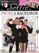 Wedding Party Selfie Photo Booth 1.5m Backdrop Panels And 10 Quote Signs Props Set