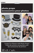 10 X New Year Photo Booth Face Photo Props Party Activity Ideas Free P & p