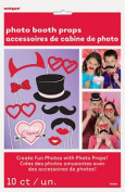 10 X Valentines Photo Booth Face Photo Props Party Activity Ideas Free P & p