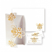 8 X Wedding Invitations, Save The Date Stickers & Envelopes Free P & p