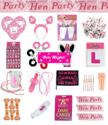 Hen Night Party Fancy Dress Accessories Sash Boppers Willy Glass L Plate