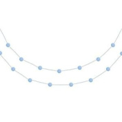 Mini Pompom Garland Bunting Sky Blue 2m Long - Party / Craft