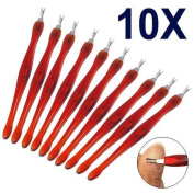 checknow 10 X Cuticle Pusher Trimmer Remover with Tail Pedicure Manicure Nail Art Tool