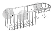 InterDesign Suction, Combo Basket, Polished Stainless Steel