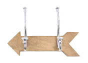 GwG Outlet Wooden Aluminium Wall Hook 30cm W, 18cm H 62135