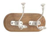 GwG Outlet Wooden Aluminium Wall Hook 41cm W, 25cm H 62132