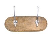 GwG Outlet Wooden Aluminium Wall Hook 30cm W, 13cm H 62138
