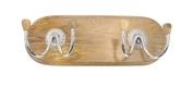 GwG Outlet Wooden Aluminium Wall Hook 43cm W, 15cm H 62130