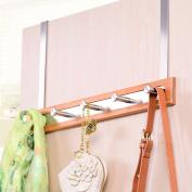 Wooden Living Room Bedroom Hanging Hanger Stainless Steel Door Hook