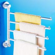 GOUGOU Space aluminium activities towel hanging / rotating towel bar / bathroom pendant